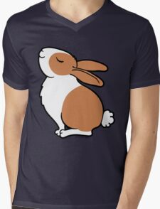 Proud Dutch Rabbit ... Brown and White Mens V-Neck T-Shirt