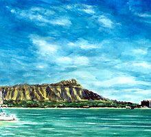 Hawaii Pink Sail Art By Yuriy B. by bihusyak