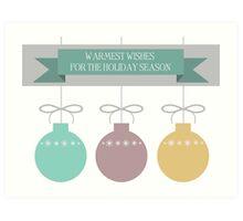 Holiday Ornaments Art Print