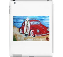 Volkswagon Bug Red with Surfboard iPad Case/Skin
