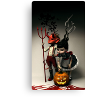 Twisted Kids: Children of the Pumpkin Canvas Print