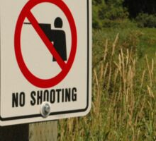 No Shooting Sticker
