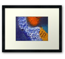 Black Swamp Creek Maryland abstract collage Framed Print