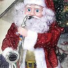 Santa Plays The Saxophone ~ Impressions by Susie Peek