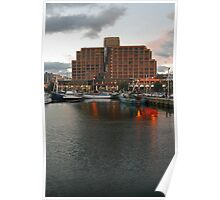 Hobart at dusk Poster