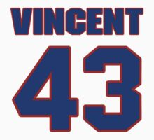 National football player Shawn Vincent jersey 43 by imsport