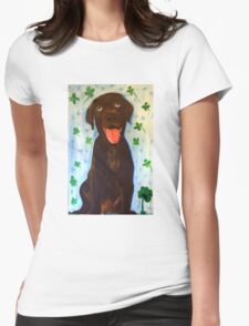 Chocolate Lab Womens Fitted T-Shirt