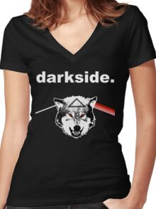 darkside. Women's Fitted V-Neck T-Shirt