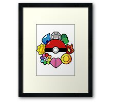 The Original Badge Collector.  Framed Print
