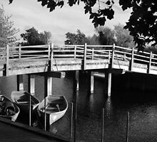 Rowing boats in Constable Country in black and white by InterestingImag