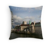 the eye of london Throw Pillow