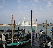 Gondolas Venice by tvlgoddess