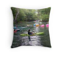Kayaking on Ginnie Spring, Florida Throw Pillow