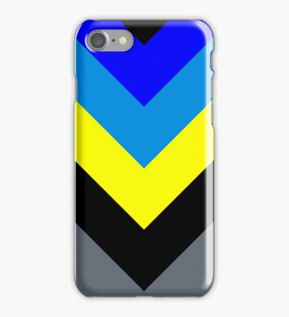 V-Lines Blue Style iPhone Case/Skin