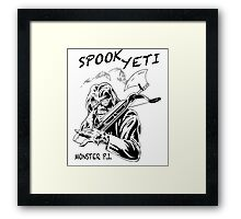 Spook Yeti, Monster P.I. Framed Print