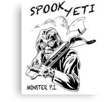 Spook Yeti, Monster P.I. Canvas Print