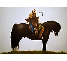 Charlie On Horse Photographic Print