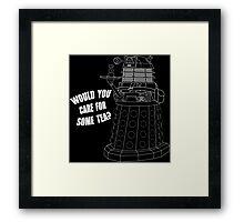 Dalek Cuppa Framed Print