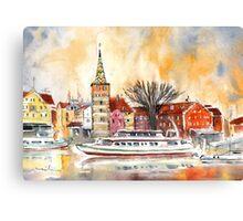 Sunset Over Lindau On Lake Constance Canvas Print