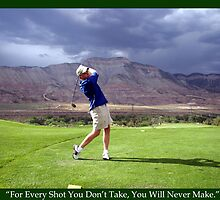 Golf Motivational Poster by Judson Joyce