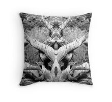 Dracos Demise Pen & Ink Throw Pillow