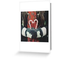 Candy cane love Greeting Card