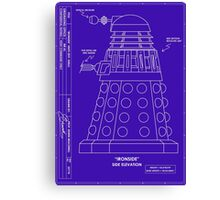 Bracewell's Ironside (Dalek) Blueprints Canvas Print