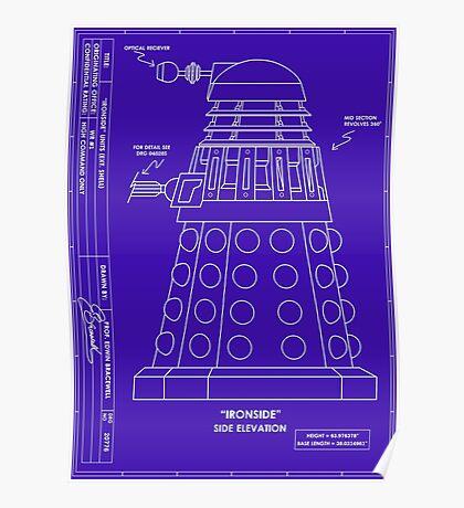 Bracewell's Ironside (Dalek) Blueprints Poster