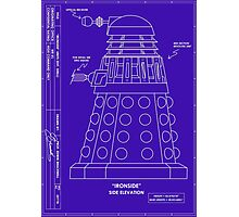 Bracewell's Ironside (Dalek) Blueprints Photographic Print