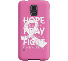 HOPE. PRAY. FIGHT. Breast Cancer Awareness Samsung Galaxy Case/Skin
