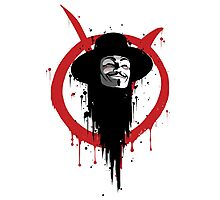 V for Vendetta Ink Photographic Print