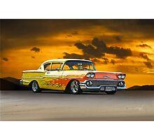 1958 Chevrolet Delray 'Custom' Photographic Print