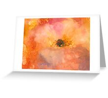 Pink Magnolia flower Greeting Card