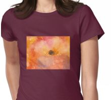 Pink Magnolia flower Womens Fitted T-Shirt