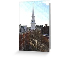 North Church, Portsmouth, NH Greeting Card