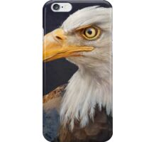 bald eagle portrait with mountain iPhone Case/Skin