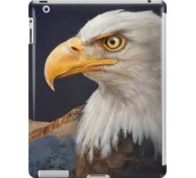 bald eagle portrait with mountain iPad Case/Skin