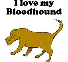 I Love My Bloodhound by kwg2200