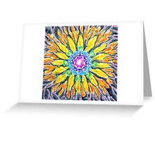 Sunflower Chakra Doodle Greeting Card