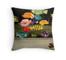 Tropical Rainbow Throw Pillow