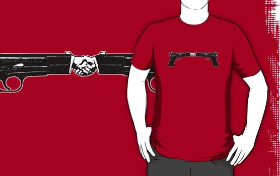 War and peace (Hand Guns) by nofrillsart
