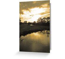 Suffolk sepia sky at sunset #2 Greeting Card