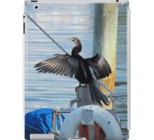 Cormorant hero pose iPad Case/Skin