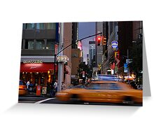 New York Taxi Cabs at Dusk Greeting Card