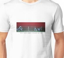 No. 8 wire on a blood red sky Unisex T-Shirt