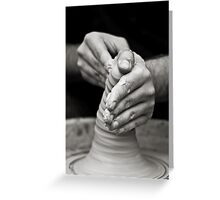 hands of worker Greeting Card