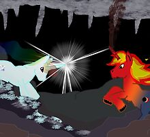 Battle of the elements by SugarDove