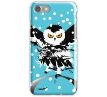 O is for Owl -  the only Snowy Black Winter One iPhone Case/Skin