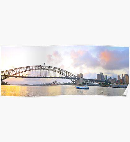 Pink - Sydney Harbour, Sydney , Australia Poster