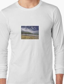 Manorbier Beach, Pembrokeshire by Tim Constable Long Sleeve T-Shirt